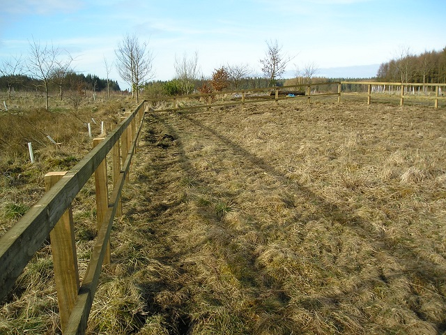 Wooden post and rail fencing at Frugaldom