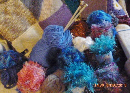 The wool pile for blanket knitting