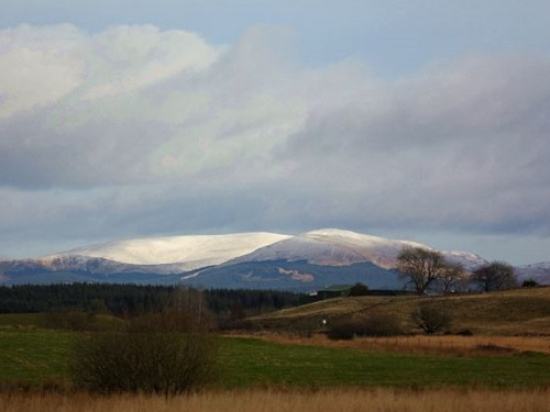 Snow on the Galloway Hills