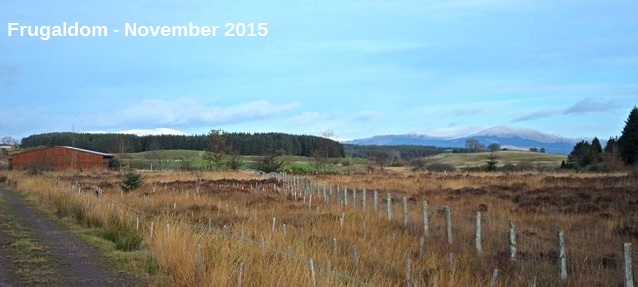 Frugaldom in November with snow on the Galloway Hills