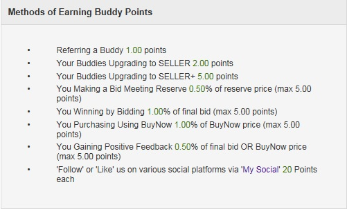 How to earn eBid buddy points