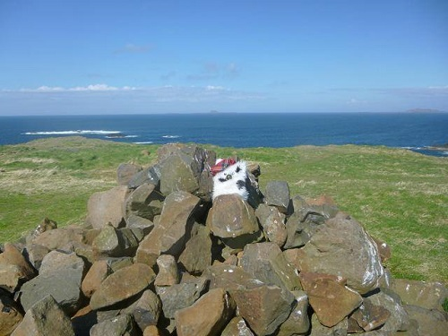Cairn on top of Isle of Staffa