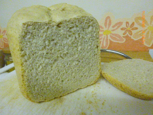 Slice of freshly baked bread