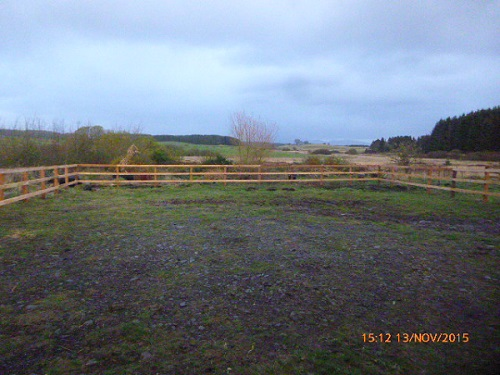 Barn yard after fencing was completed