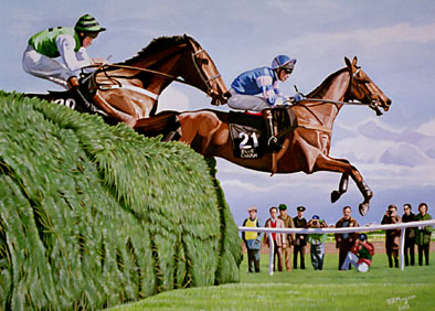 Grand National original artwork by Harvey Mayson
